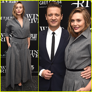 Elizabeth Olsen & Jeremy Renner Couple Up at 'Wind River' Screening in NYC