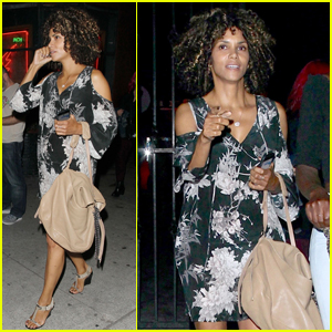 Halle Berry Has a Night of Laughter With Girlfriends!
