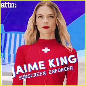 Jaime King Shows the Importance Of Sunscreen By Playing a Lifeguard in New PSA!