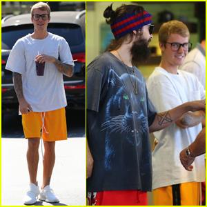 Justin Bieber Runs Into Jared Leto at the Juice Bar!