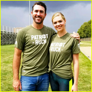 Kate Upton & Fiance Justin Verlander Team Up To Promote National Marines Week!