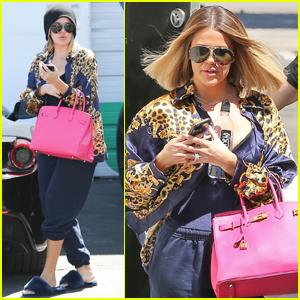 Khloe Kardashian Makes Glam Transformation While at the Studio!