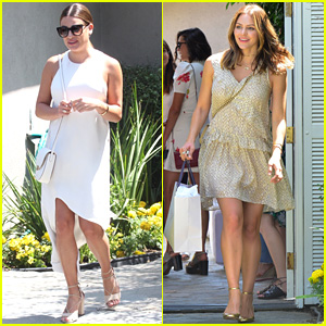Lea Michele & Katharine McPhee Get Pampered Together at Jennifer Klein's Day of Indulgence