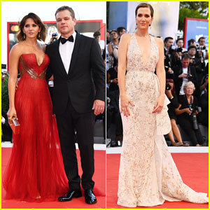 Matt Damon Gets Support from Wife Luciana at 'Downsizing' Venice Film Fest Opening Ceremony Premiere!