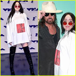 Noah Cyrus & Dad Billy Ray Cyrus Pose Together at MTV VMAs 2017