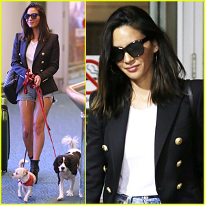 Olivia Munn & Her Pups Arrive in Vancouver for 'Six' Filming