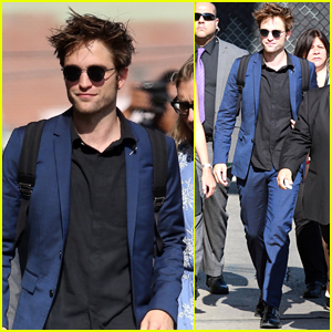 Robert Pattinson Arrives in Style for 'Jimmy Kimmel Live' Appearance