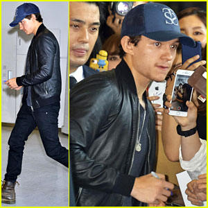 Tom Holland Arrives In Tokyo After Hilarious Frog Fan Theory