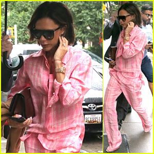 Victoria Beckham Stays Stylish in New York City Rain