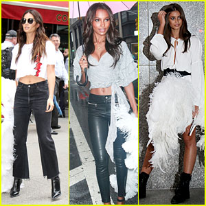 Lily Aldridge, Jasmine Tookes, Taylor Hill & More Angels Visit Victoria's Secret for Fittings!