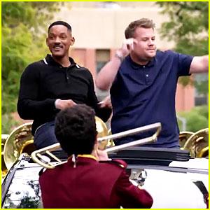 Will Smith & James Corden's 'Carpool Karaoke' Series Premiere - WATCH NOW!