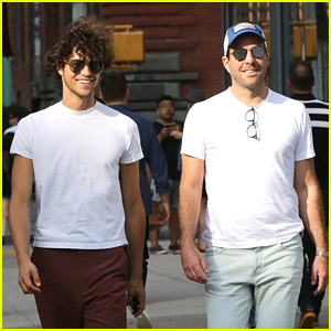 Zachary Quinto & Boyfriend Miles McMillan Can't Contain Their Adorable Smiles!