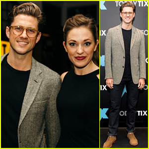 Aaron Tveit Helps Launch 'The X Magazine' with Laura Osnes!