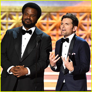 'Ghosted' Stars Adam Scott & Craig Robinson Hit the Stage at Emmys 2017!