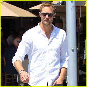 Alexander Skarsgard Looks Cool in Shades While Out to Lunch