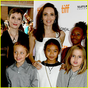 Angelina Jolie's Kids Support Her at 'Breadwinner' Toronto Premiere!