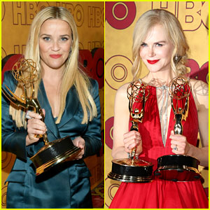 Nicole Kidman & Reese Witherspoon Bring Their Emmys to HBO After Party!