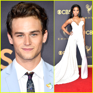 '13 Reasons Why' Star Ajiona Alexus Wows in White Jumpsuit at Emmy Awards 2017