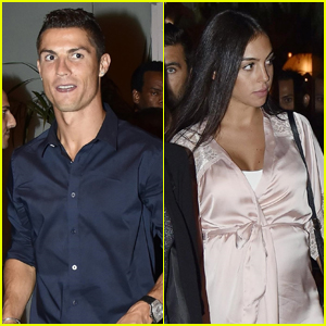 Cristiano Ronaldo Grabs Dinner with Pregnant Girlfriend Georgina Rodriguez