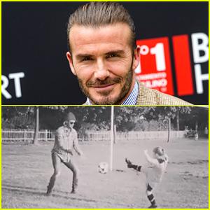 David Beckham Kicks Off Soccer Lessons with Daughter Harper!