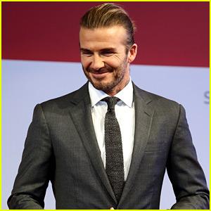 David Beckham Suits Up for a
