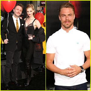 Derek Hough & More Stars Attend the 'It' Hollywood Premiere