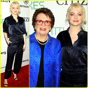 Emma Stone Joins Billie Jean King at 'Battle of the Sexes' NYC Premiere!