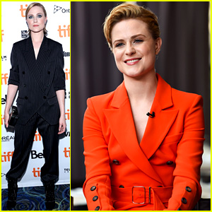 Evan Rachel Wood Suits Up for Toronto Film Festival Premiere!