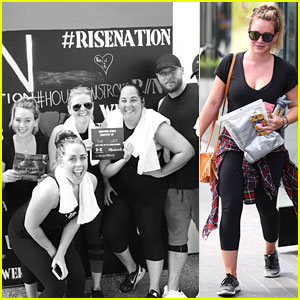 Hilary Duff Climbs For Houston With Ex-Boyfriend Jason Walsh