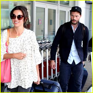 Jamie Dornan & Wife Amelia Warner Depart Toronto After TIFF