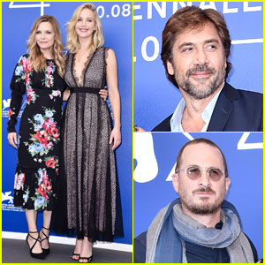 Jennifer Lawrence Joins Boyfriend Darren Aronofsky & Co-Stars at 'Mother!' Photo Call