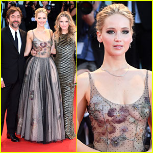 Jennifer Lawrence Goes Sheer in Dior, Joins Co-Stars Michelle Pfeiffer & Javier Bardem at 'mother!' Venice Premiere!