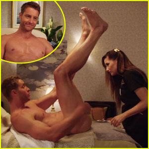 Justin Hartley Gets a Very Intimate Wax From Kathryn Hahn in 'A Bad Moms Christmas' Trailer - Watch!