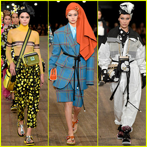 Kendall Jenner, Gigi & Bella Hadid Go High Fashion for Marc Jacobs