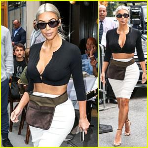Kim Kardashian Flaunts Cleavage in Revealing Crop Top in NYC!