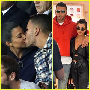 Kourtney Kardashian & Boyfriend Younes Bendjima Pack on the PDA at Paris Soccer Game