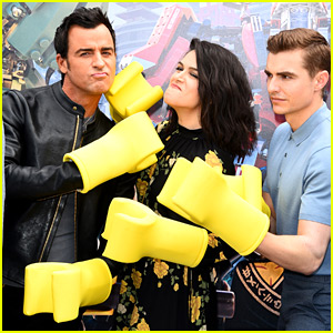 Justin Theroux, Dave Franco, & 'Lego Ninjago' Cast Throw Punches at Legoland Photo Call!