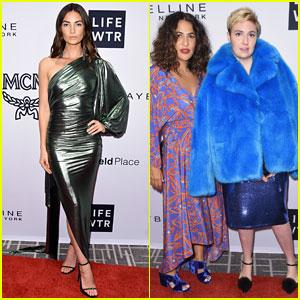 Lily Aldridge, Lena Dunham, & More Attend Fashion Media Awards 2017