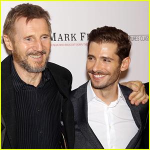 Liam Neeson & Julian Morris Suit Up for 'Mark Felt' NYC Premiere
