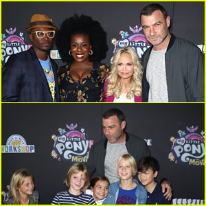 Liev Schreiber Brings Sons to 'My Little Pony' Screening with Co-Stars!