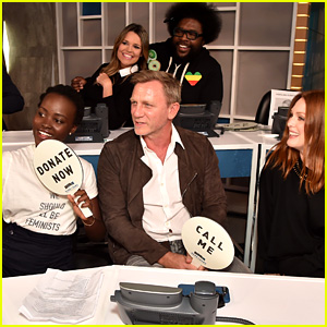 Lupita Nyong'o Snaps Selfie with Daniel Craig, Julianne Moore, & More Stars at 'Hand in Hand'