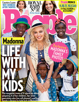 Madonna Poses with Four of Her Six Kids for 'People'