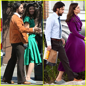 Mandy Moore & Milo Ventimiglia Channel Their 'This Is Us' Characters on Set