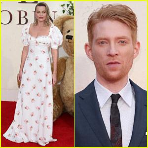 Margot Robbie Wears White Floral Dress for 'Goodbye Christopher Robin' Premiere