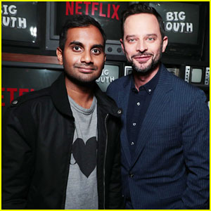 Nick Kroll & 'Big Mouth' Cast Get Support From Aziz Ansari at Premiere - Watch Trailer!