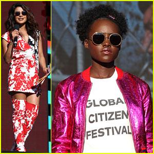 Priyanka Chopra Hosts Global Citizen Festival with Lupita Nyong'o