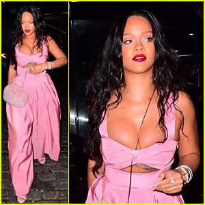 Rihanna Looks Incredible in Pink Jumpsuit for Dumbo Dinner
