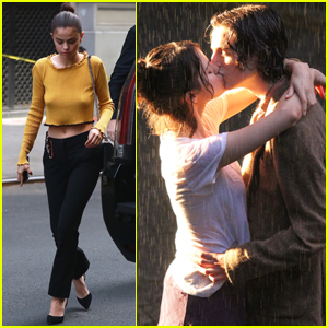 Selena Gomez & Timothee Chalamet Share a Kiss While Filming in Central Park