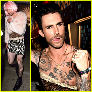 Adam Levine Dresses in Drag for Halloween, Frees the Nipple