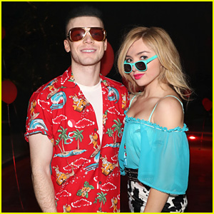 Cameron Monaghan & Peyton List Channel 'True Romance' at Just Jared Halloween Party